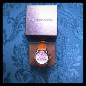 Michael Kors Bradshaw Leather Watch